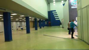 Пустой зал выставки РЗА