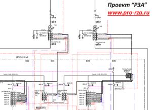 Схема размещения защит для Пс 110/10 кВ