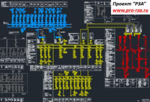 Первичная схема подстанции