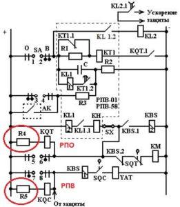 Резисторы в цепях РПВ и РПО