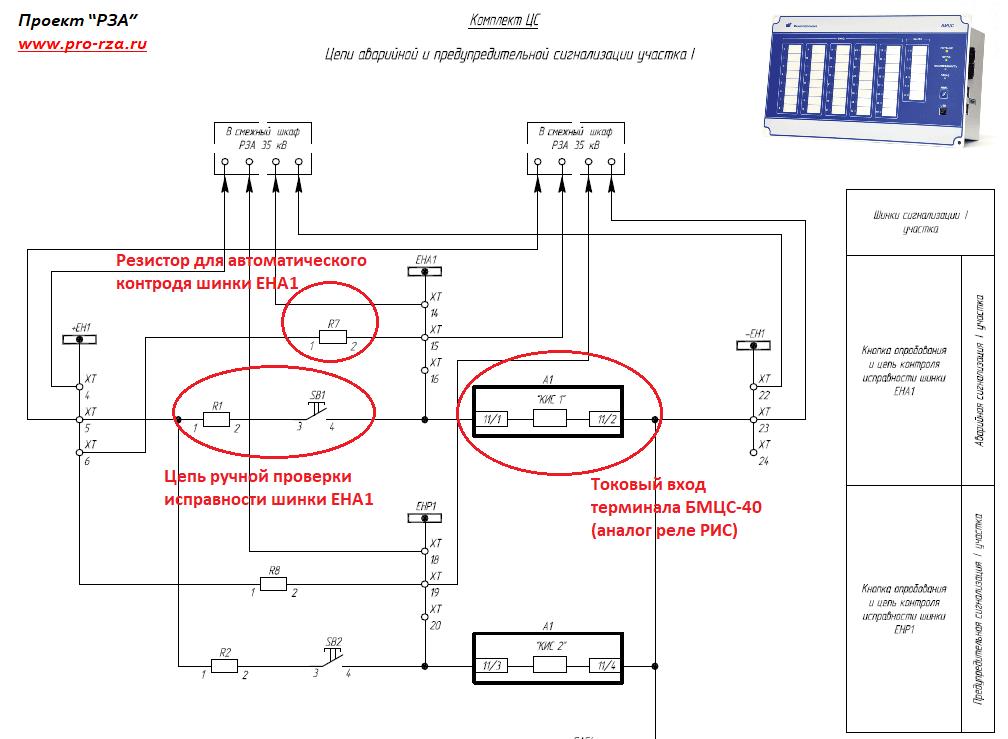 Центральная сигнализация ПС на микропроцессорном терминале