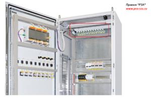 Резисторы в шкафу релейной защиты